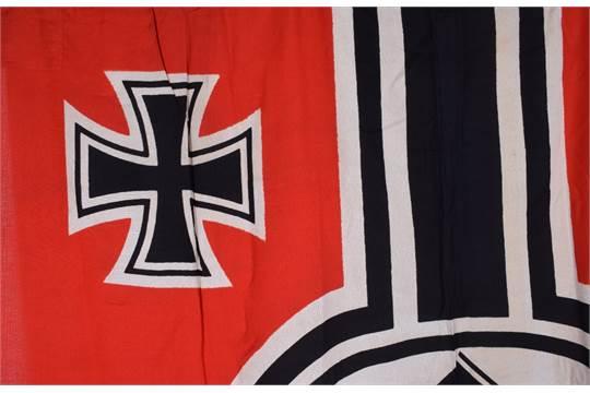 WW2 German Kriegsmarine Battle Flag, very good example of