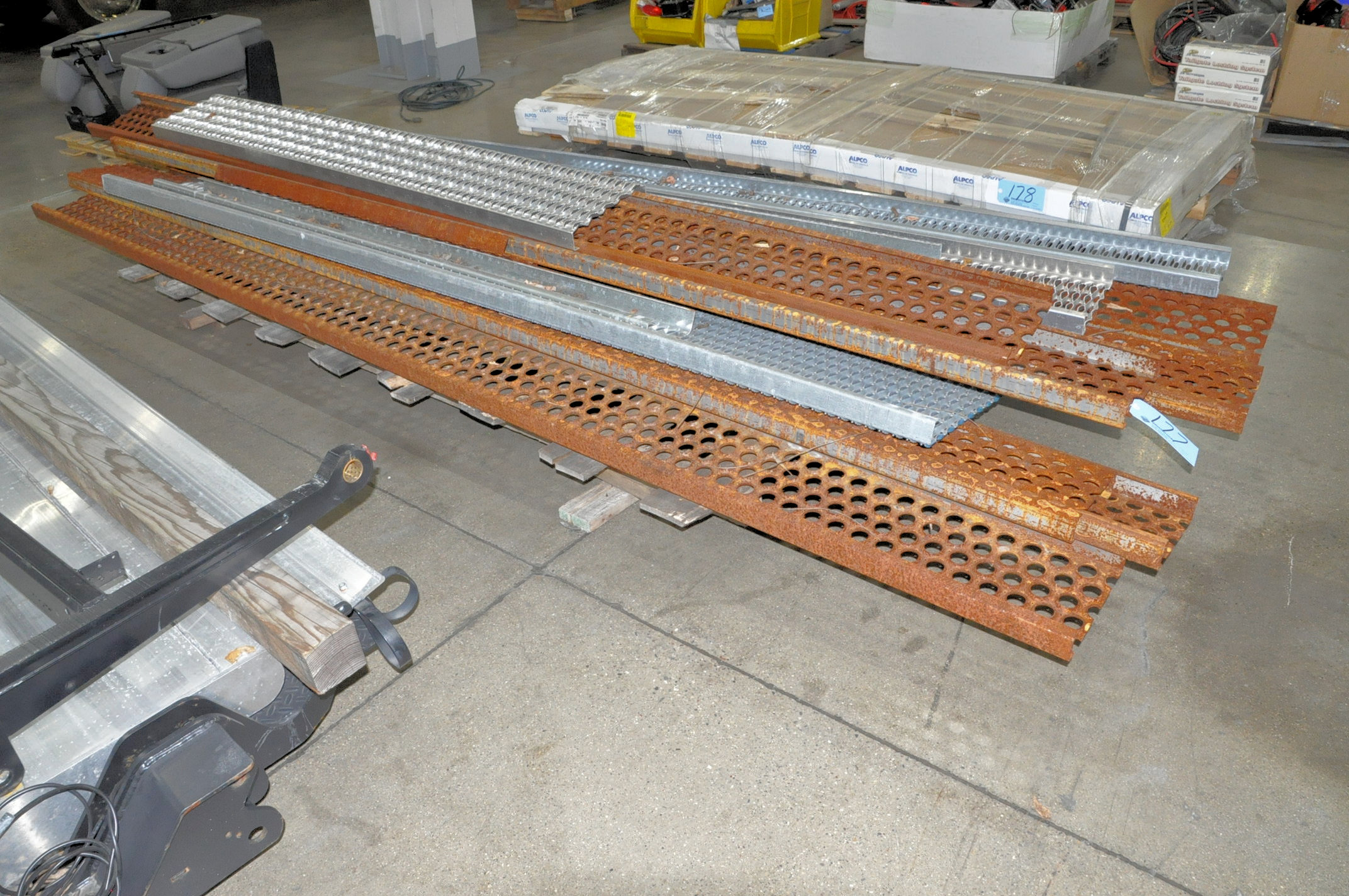 Lot-Expanded Metal Step/Drains on (1) Pallet