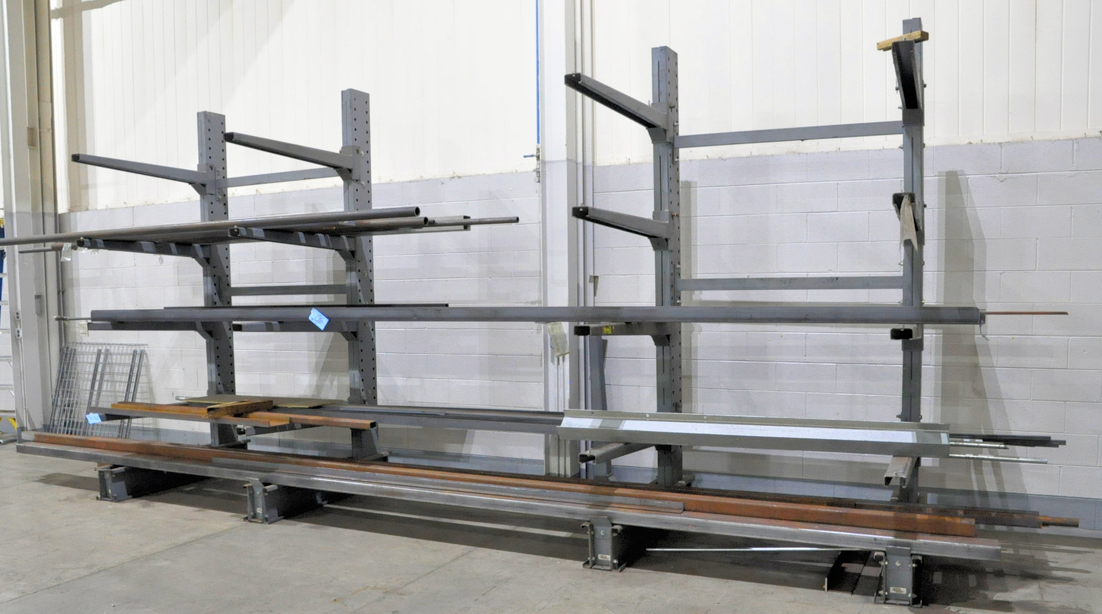 Lot-Hollow Steel Tube, Pipe, Angle and Flat Stock on (1) Rack, (Rack Not Included)