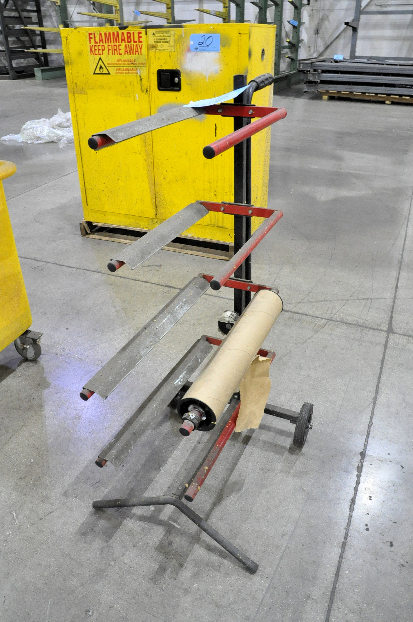 Portable Roll Materials Cart