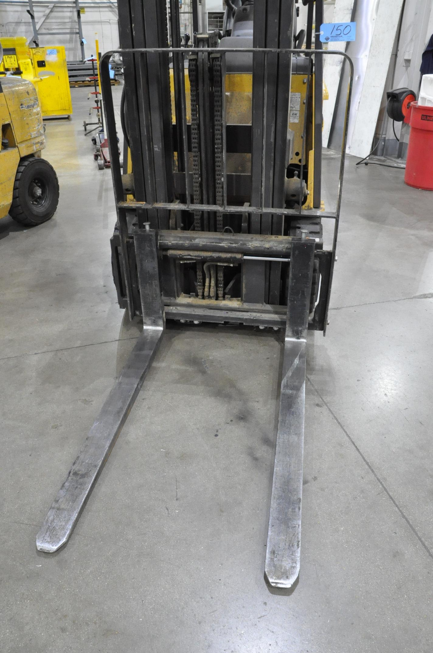 "Caterpillar Model EC25N2, 4,450-Lbs. x 188"" Lift Capacity Electric Fork Lift, 3 Stage Mast, Charger - Image 3 of 7"