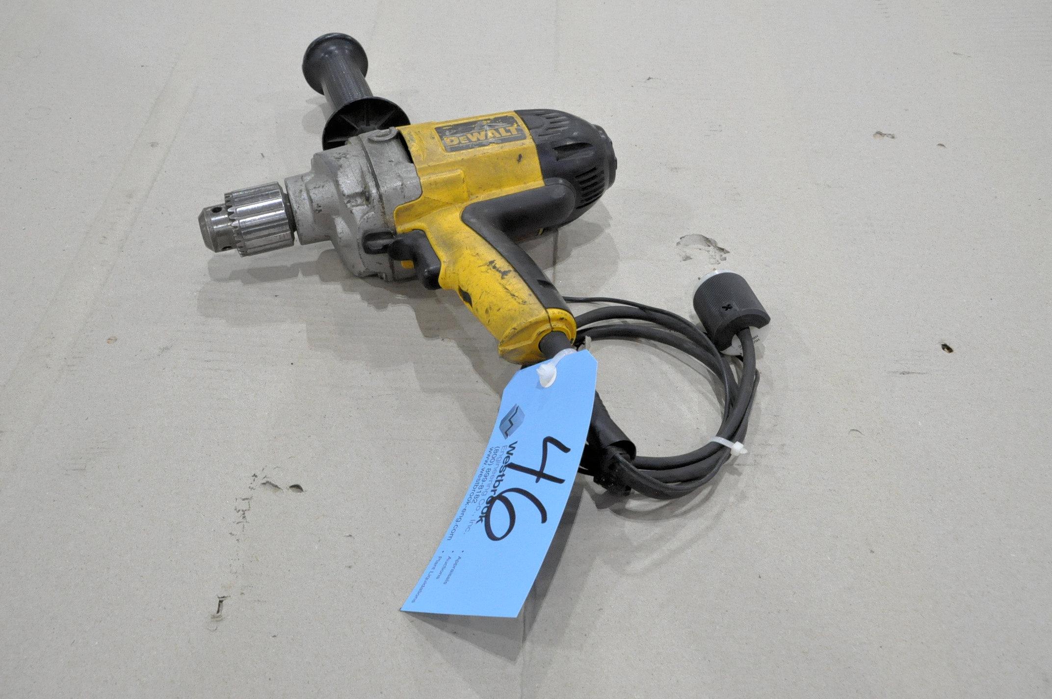 """DeWalt Model 130V, 1/2"""" Variable Speed Drill"""