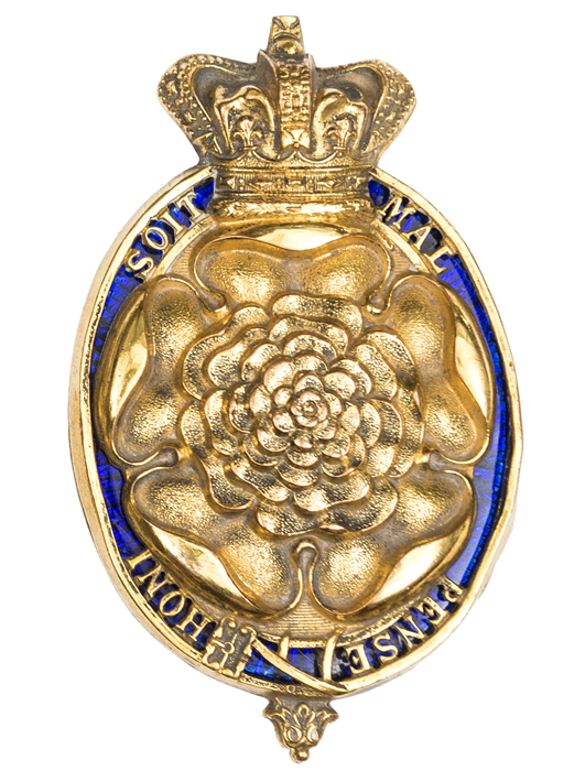 Lot 4 - An early 19th century officer's gilt badge of The 7th (or Royal Fusiliers), the Rose within an
