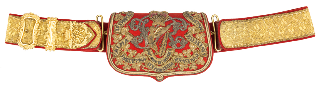 Lot 21 - A good Victorian officer's full dress shoulder belt and pouch of the 8th (King's Royal Irish)