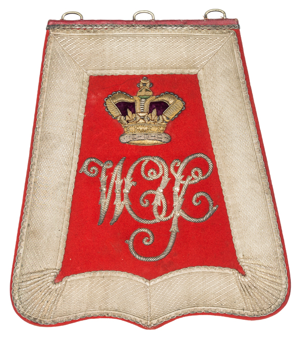Lot 35 - A Victorian officer's full dress embroidered sabretache of the Westmoreland Yeomanry Cavalry,