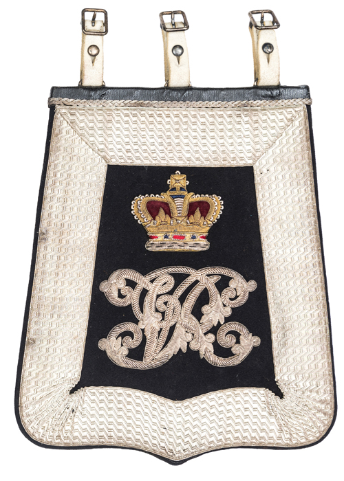 Lot 40 - A Victorian officer's full dress embroidered sabretache of the Royal Bucks Yeomanry, of black