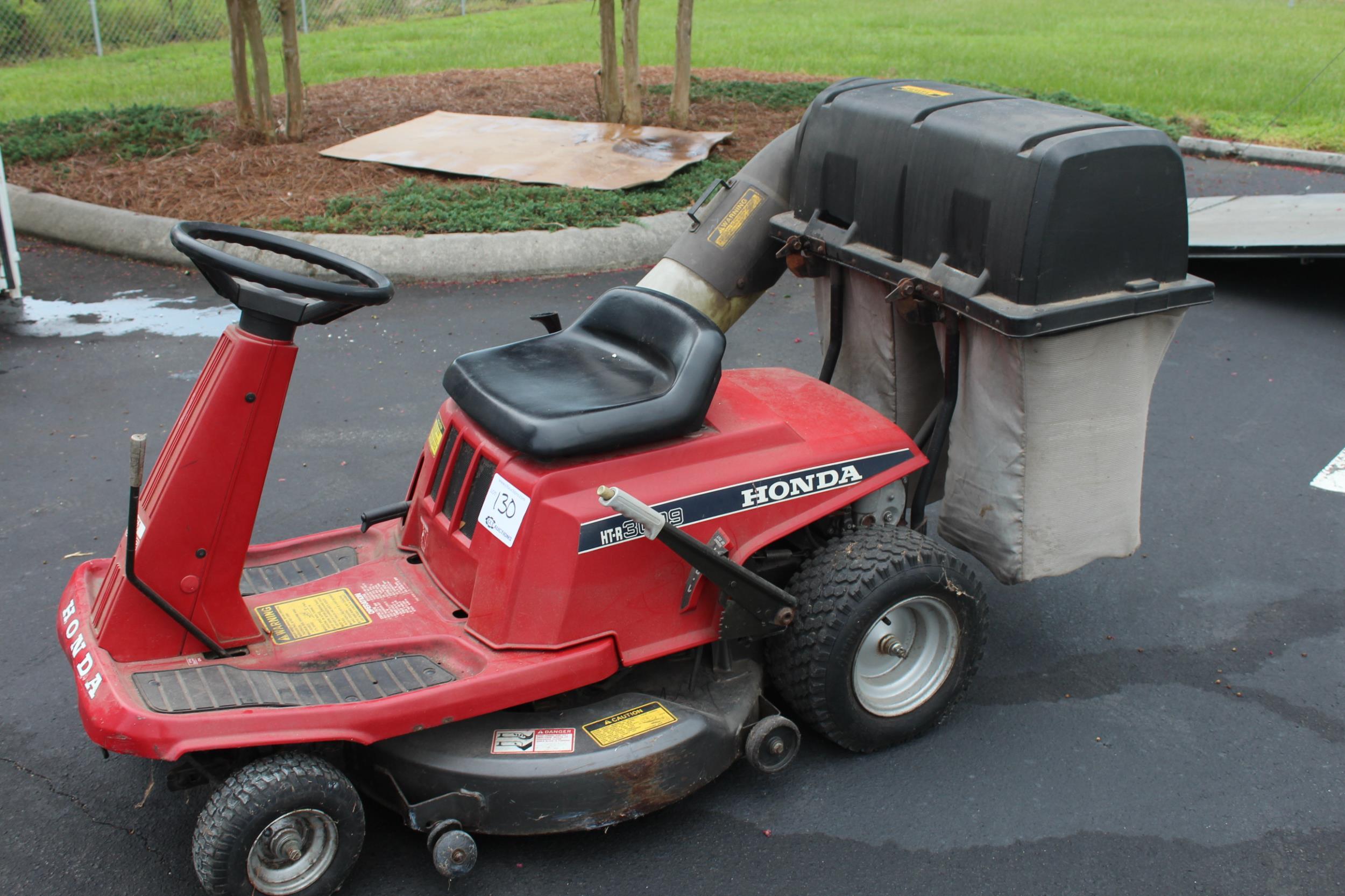Honda ht r 3009 riding mower w bagger does not start lot 130 honda ht r 3009 riding mower w bagger does not start fandeluxe Gallery