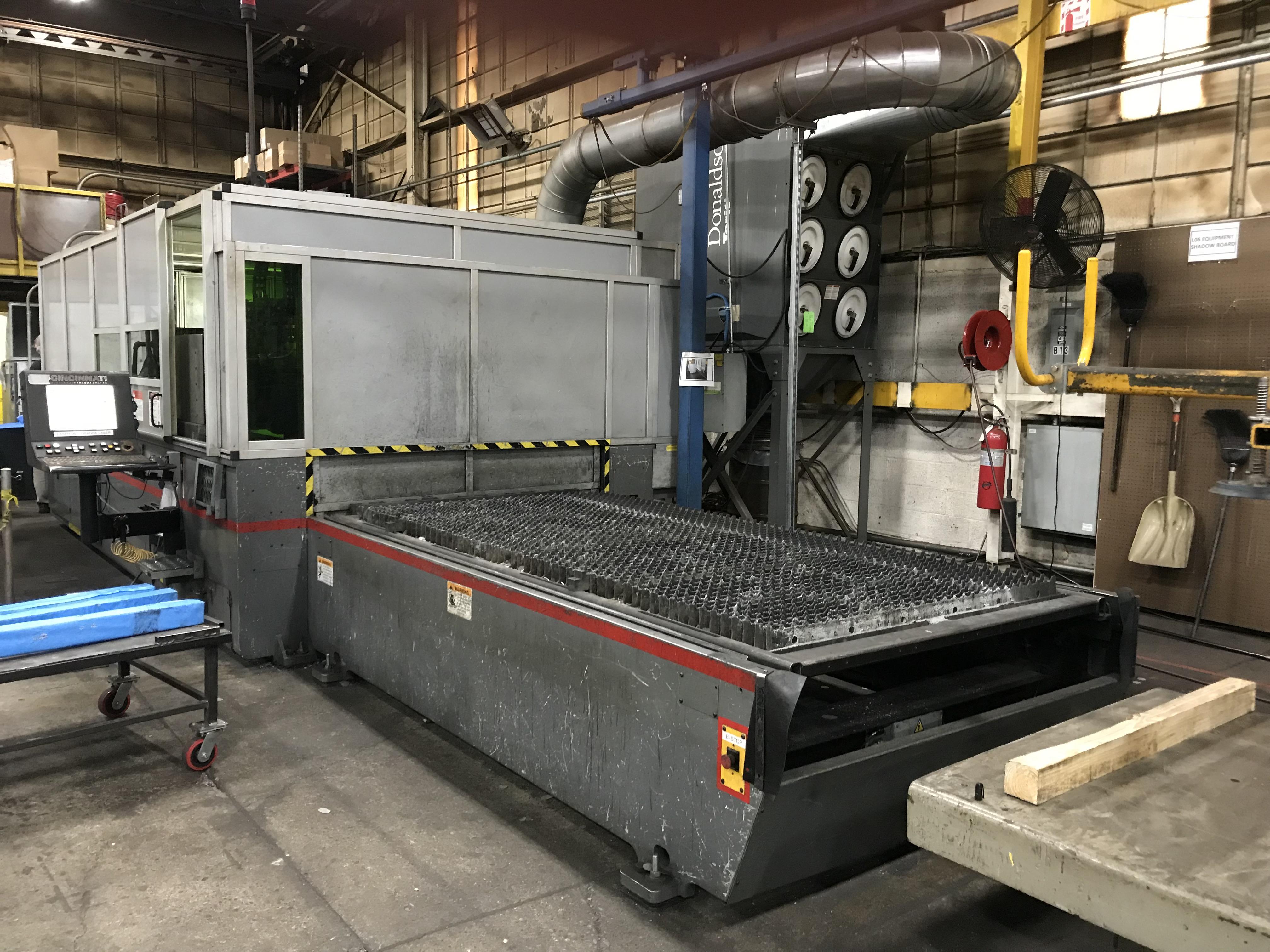 Cincinnati CL940 Fiber Laser, 4,000 Watt, 5' x 10' Dual Pallets, Chiller, Dust Collector, Low Hours