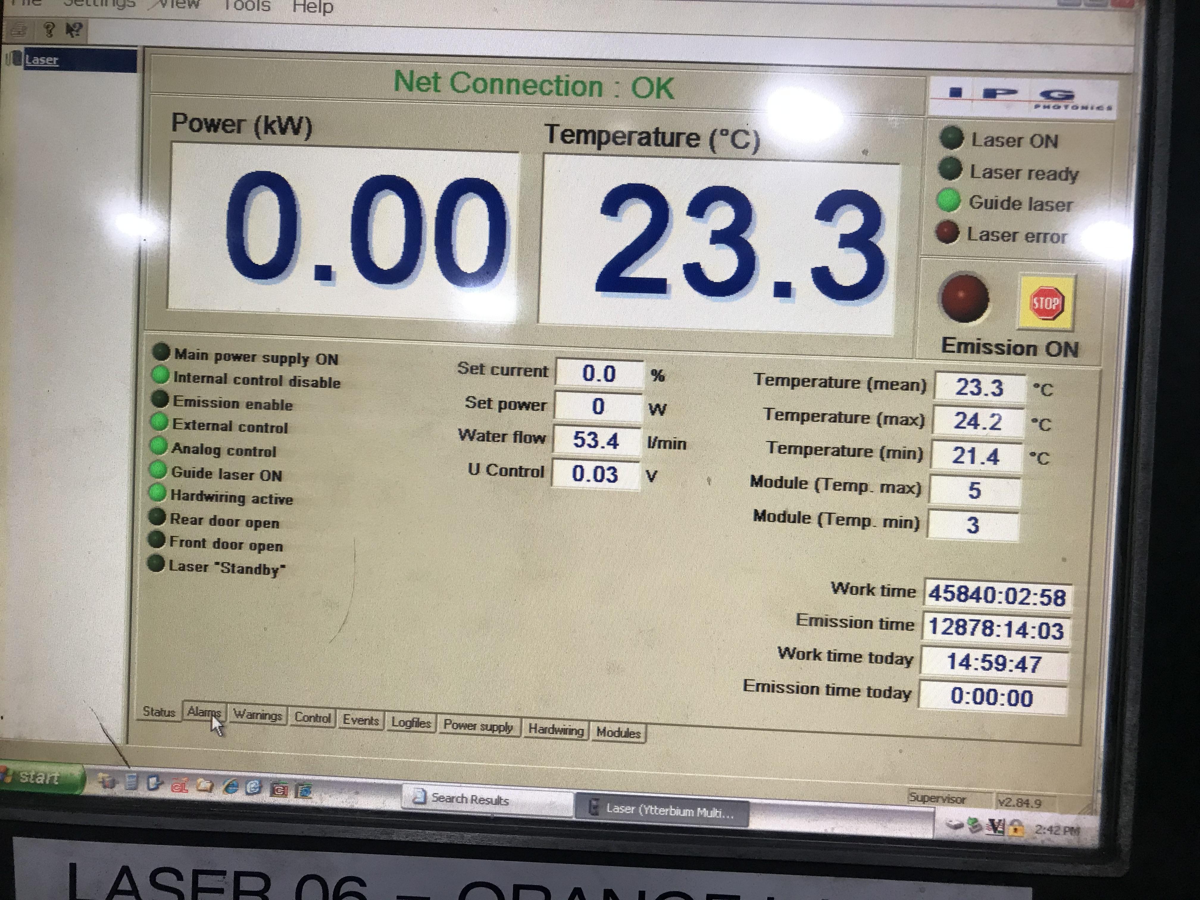 Cincinnati CL940 Fiber Laser, 4,000 Watt, 5' x 10' Dual Pallets, Chiller, Dust Collector, Low Hours - Image 7 of 7
