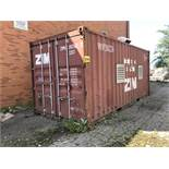 ZIM, 20' SEA CONTAINER) (CONTAINER IS CONNECTED TO ELECTRICAL. DISCONNECT FEE IS $200)