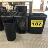 LOT OF GARBAGE BINS