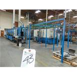 """AIS-Wash/Powder Conveyorized Spray Paint Line, Consisting of: 40"""" x 36"""" Wash Tunnel, (5) Sections"""