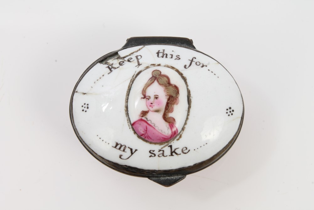 Late 19th century staffordshire enamel patch box of oval for Mirror 18 patch