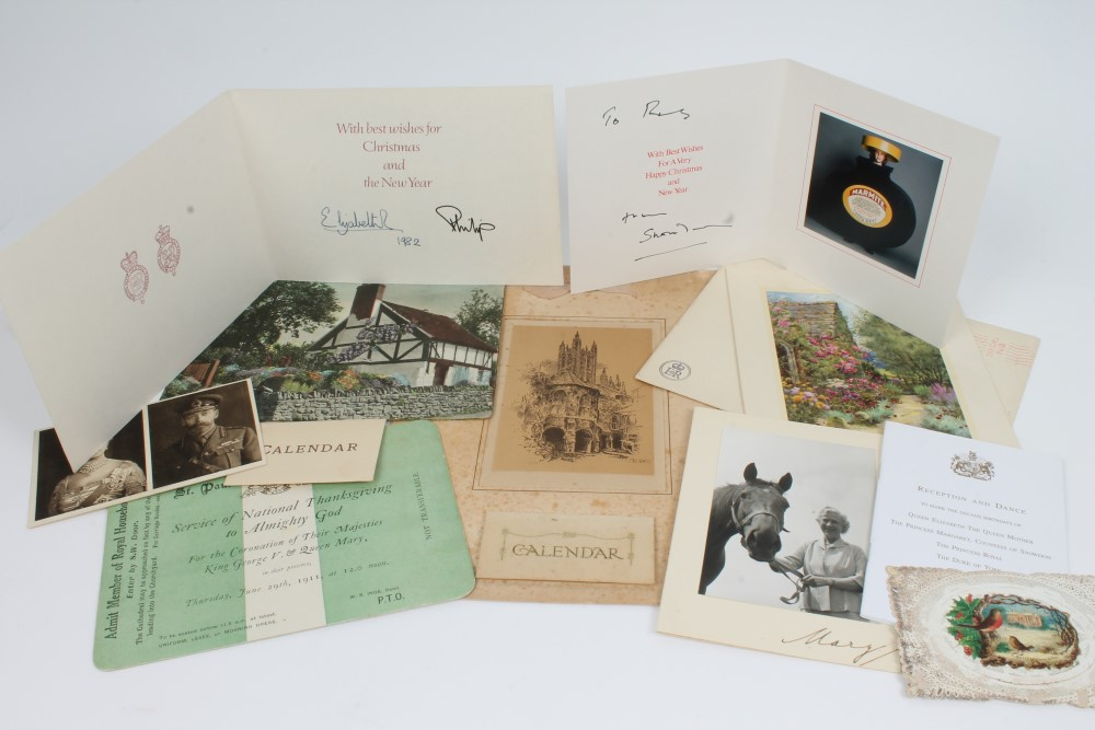 hm queen mary two signed and inscribed calendars for 1926 and 1946