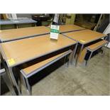 """(2) Display Tables 60"""" x 32"""" w/Nesting Table 48"""" x 24"""""""