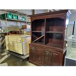 Wooden Chest of Drawers and Hutch