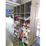 "Compartment Storage Unit w/Banners, 28"" D x 26"" W x 90"" H"