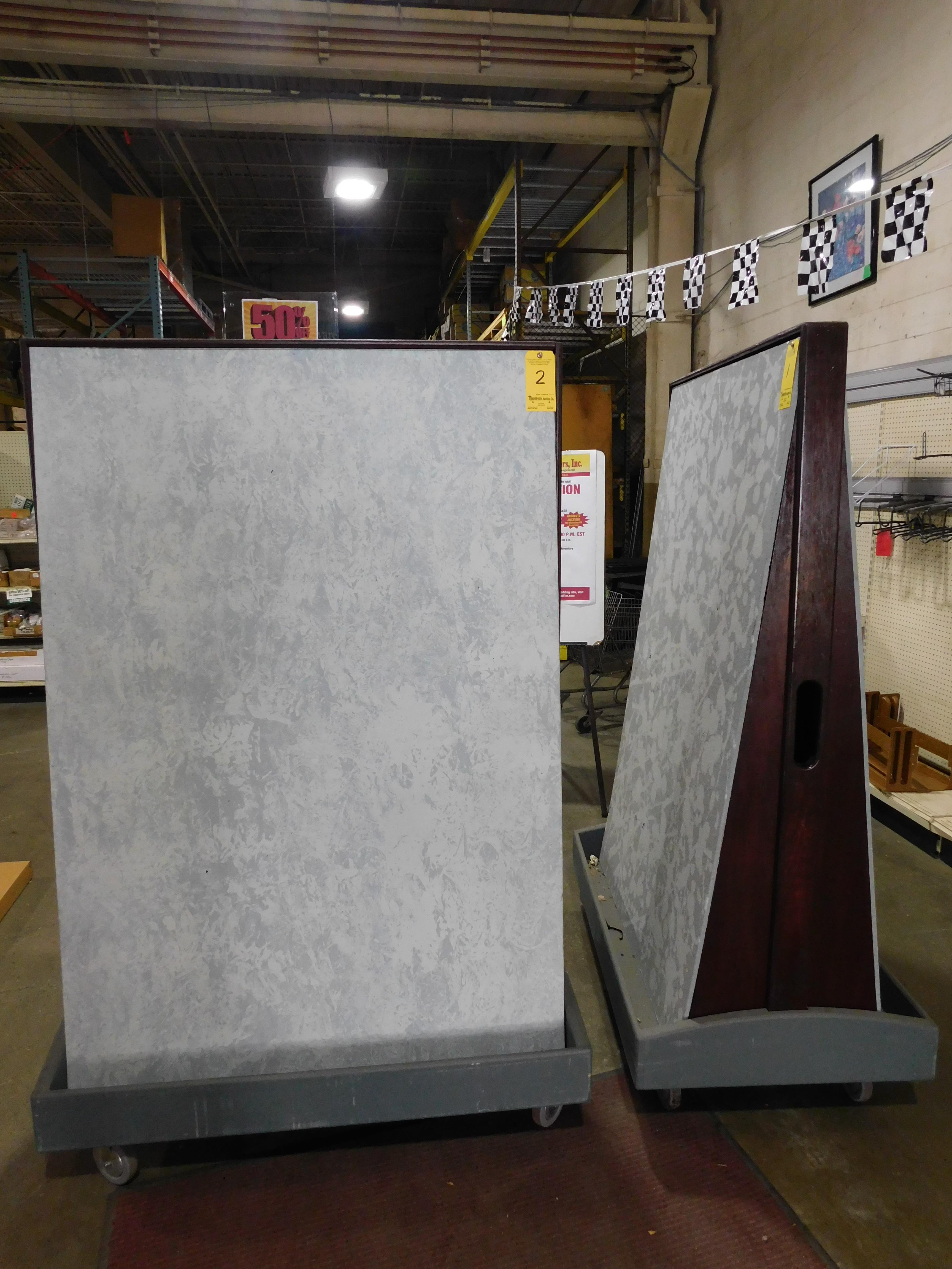 """4' x 6"""" Mobile Display Boards, Double Sided"""