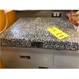 "Marble table 22""x18"" Technilab Instruments model 386 sn J7773"