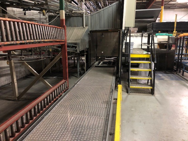 Hydraulic Pallet unloader (dePalletizer Rago) American Can Company 12a63n326x - Image 3 of 3