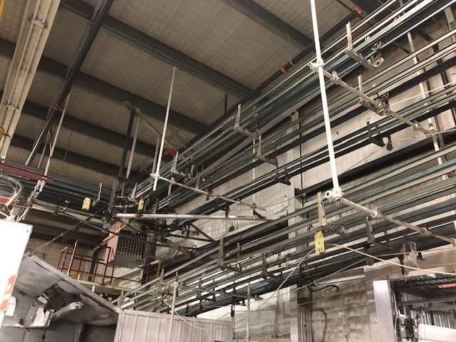 Empty containers cable conveyors (2xgallons, 1xquarts) Cable Conveyor Systems