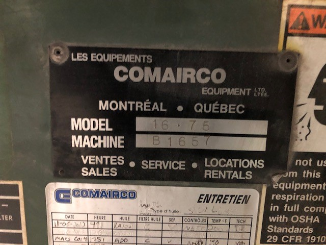 Air Compressor 75hp Sullair, Model: LS-20S-150H ACAC, s/n: 003-112279 - Image 2 of 2