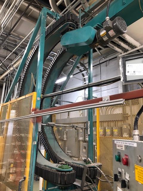 Empty gallons lowering conveyor Serac line - Image 3 of 3