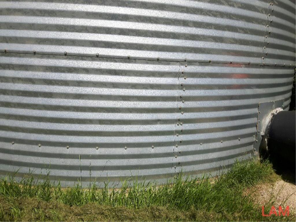 Lot 39 - Bin W1 21 FT x 5 Ring +/- 6000bu Westeel Grain Bin c/w Aeration & OPI Cable, (No Floor)