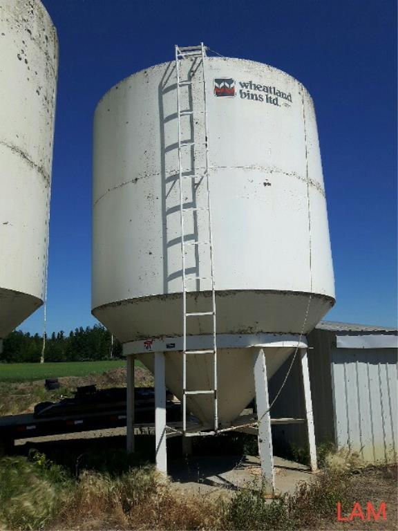Lot 42 - Bin W4 1210E Wheatland Hopper Fertilizer Bin +/- 43 Tonne, +/-1300 bu
