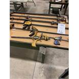 Lot of Various Size Adjustable Clamps & C Clamps