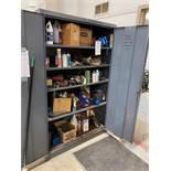 2 Door Metal Rack And Contents