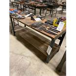 Wood Top With Metal Legs Work Bench