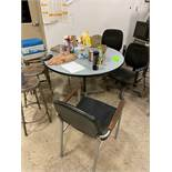 Lot of Kitchen Formica Table And Chairs, Stools
