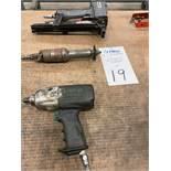 Lot of Lot Pneumatic Hand Tools, Grinder, Staple Gun Impact Gun