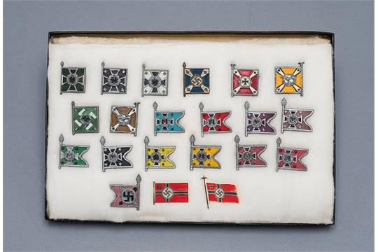 Waffen - Allgemein Heer : Complete Set of Third Reich WHW Flag Pins ...