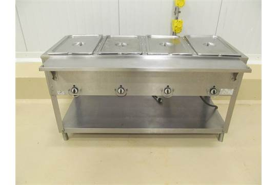 Duke Model EM Well Electric Steam Table Serial Number - 4 well gas steam table