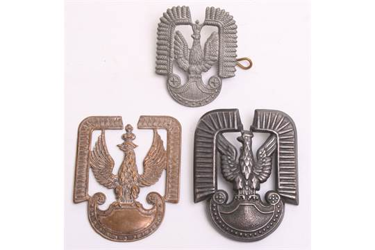 WW2 Polish Air Force Cap Badge, of poor quality casting with