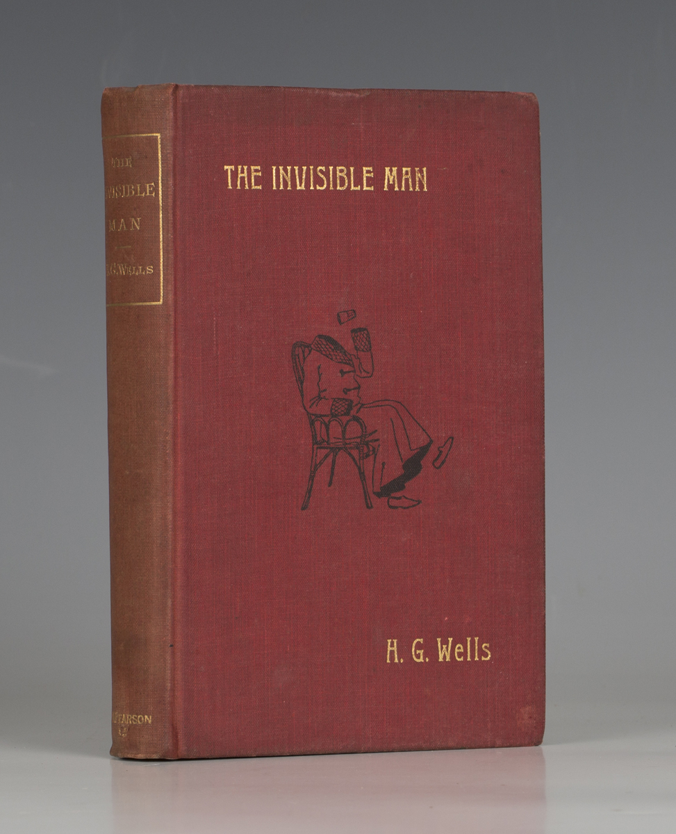 WELL, H.G. The Invisible Man. London: C. Arthur Pearson Limited, 1897. First edition, 8vo (184 x