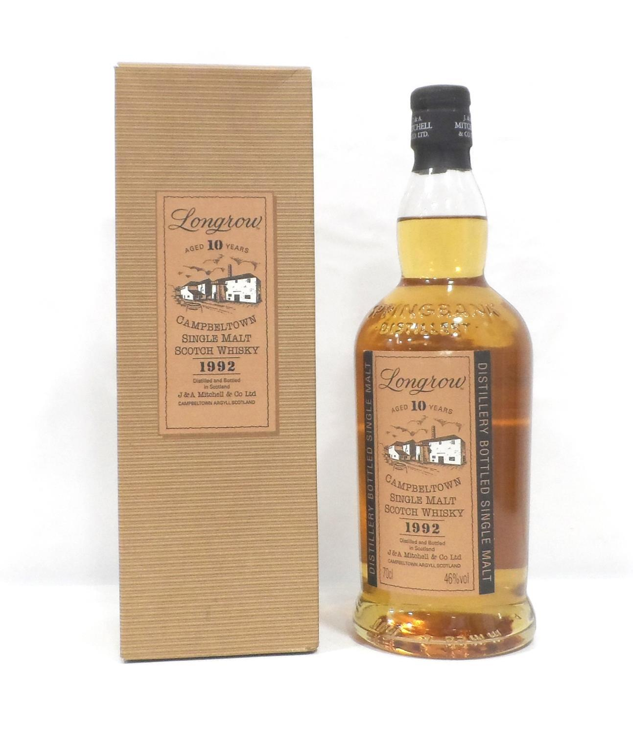 Lot 18 - LONGROW 10Y0 - 1992 Longrow was first produced at Springbank Distillery in 1973 as an experiment