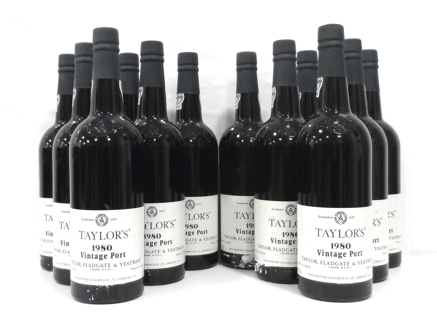 TAYLOR'S 1980 VINTAGE PORT A case of Taylor's 1980 Vintage Port produced in a year that seems to