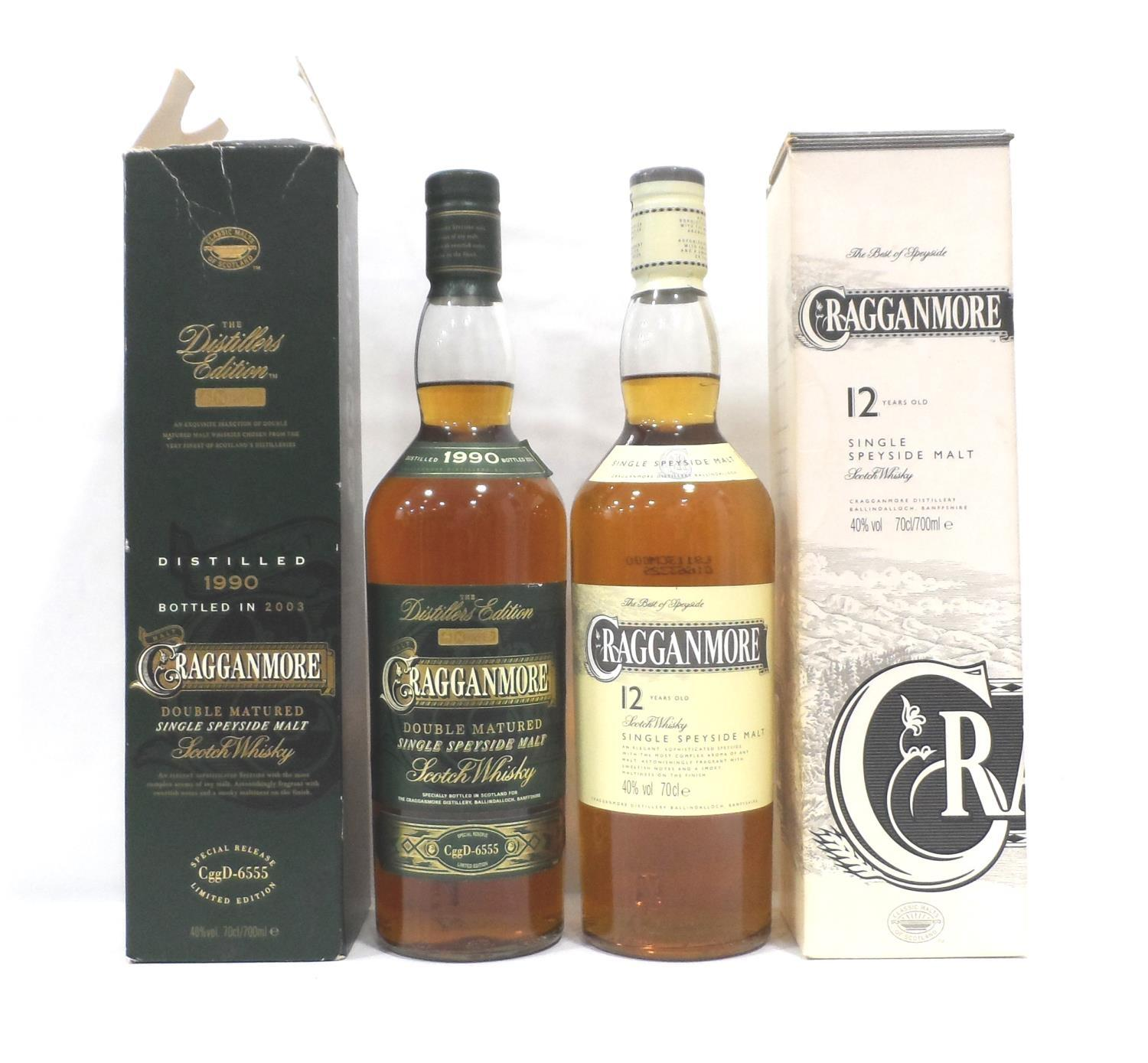 TWO CRAGGANMORE A pair of Cragganmore expressions. First a Cragganmore Distillers Edition Single