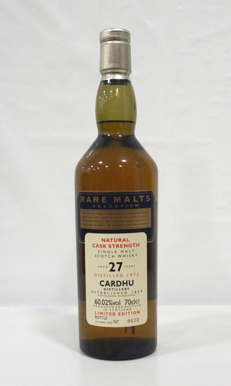 CARDHU 27Y0 RARE MALTS A rare bottle of the Cardhu 27 Year Old Single Malt Scotch Whisky distilled
