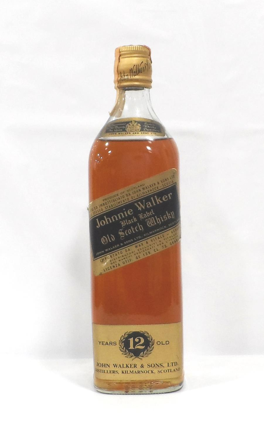 Lot 36 - JOHNNIE WALKER BLACK LABEL 1970s An export bottle of the Johnnie Walker Black Label Blended Scotch