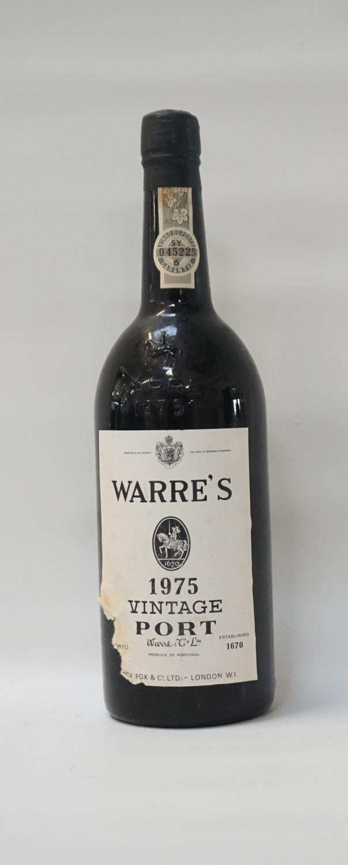 WARRE'S 1975 VINTAGE PORT A bottle of the famous Warre's 1975 Vintage Port. 75cl. No strength