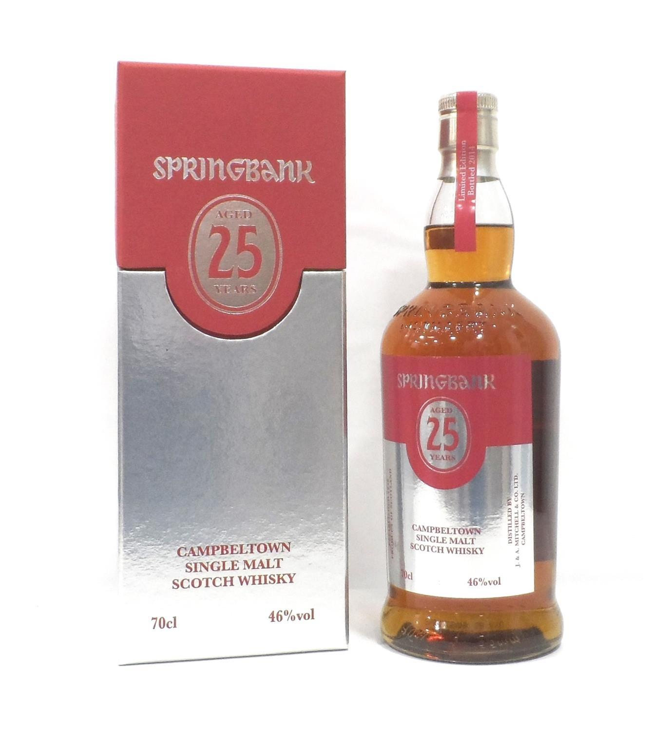 Lot 17 - SPRINGBANK 25YO - 2014 RELEASE The folks at Spingbank Distillery are one of the few producers who