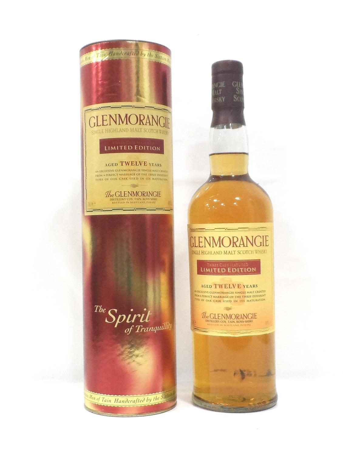 GLENMORANGIE 12YO THREE CASK MATURED A Limited Edition bottling of the Glenmorangie 12 Year Old