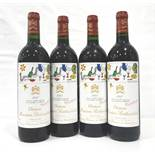 CHATEAU MOUTON ROTHSCHILD 1997 VINTAGE A group of four bottles of the famous Chateau Mouton