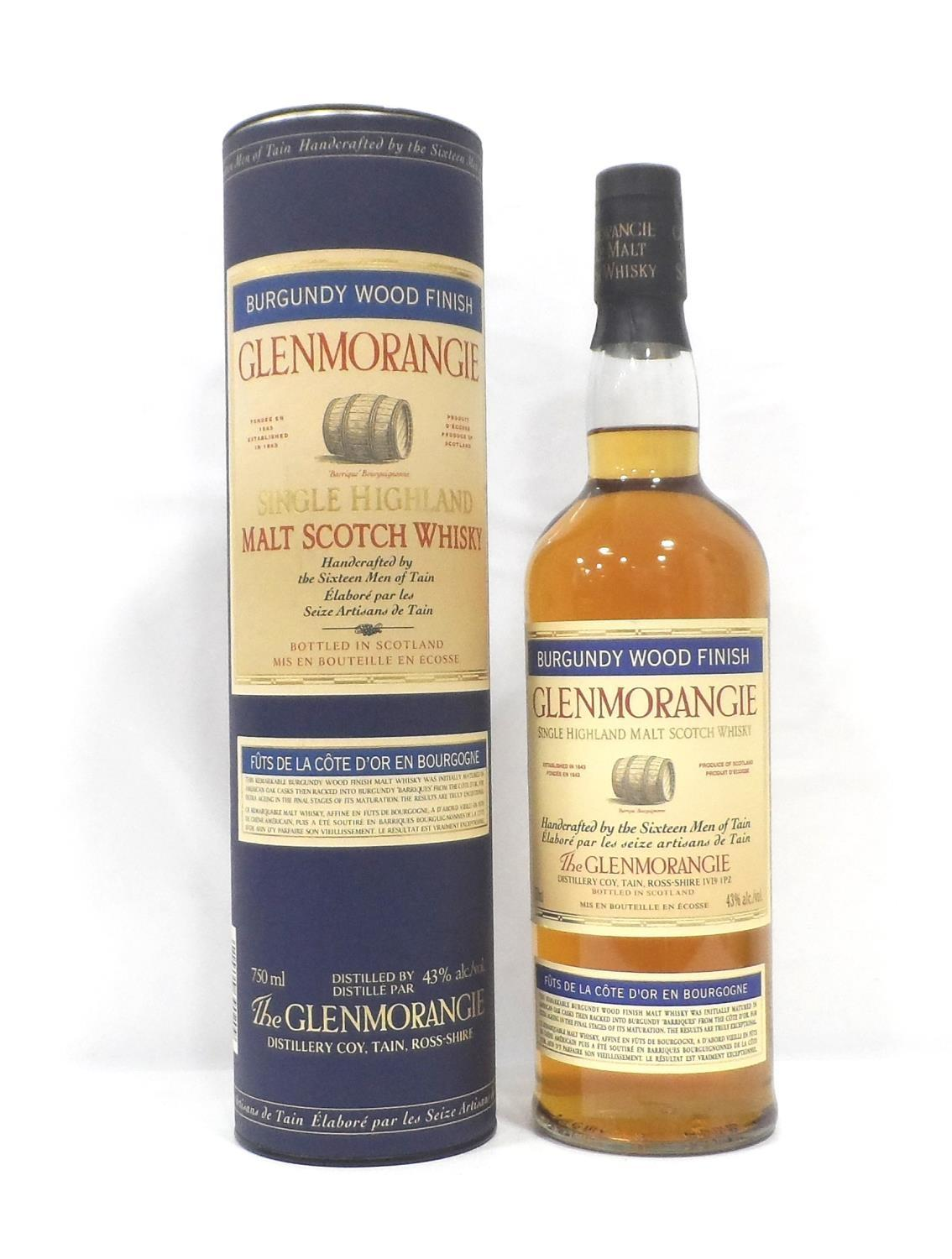 "GLENMORANGIE BURGUNDY WOOD FINISH The Glenmorangie Distillery were one of the pioneers of "" - Image 2 of 2"