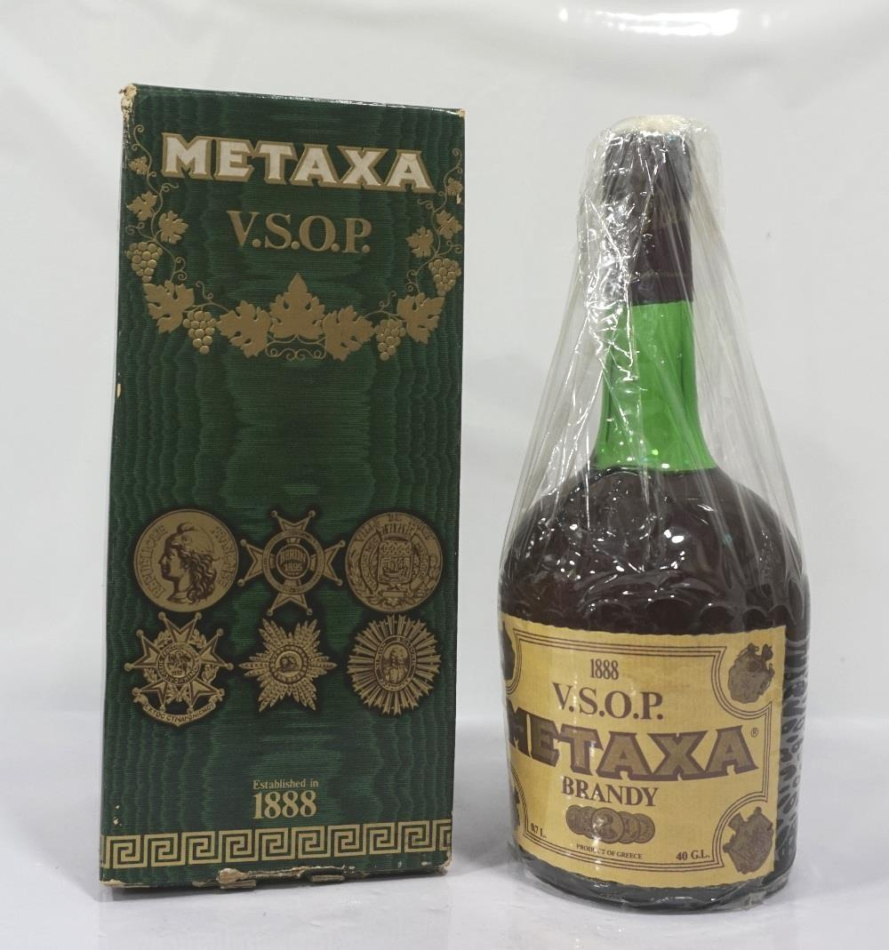 METAXA V.S.O.P. BRANDY A special bottling of the famous Grecian Brandy Metaxa. 70cl. 40% abv.