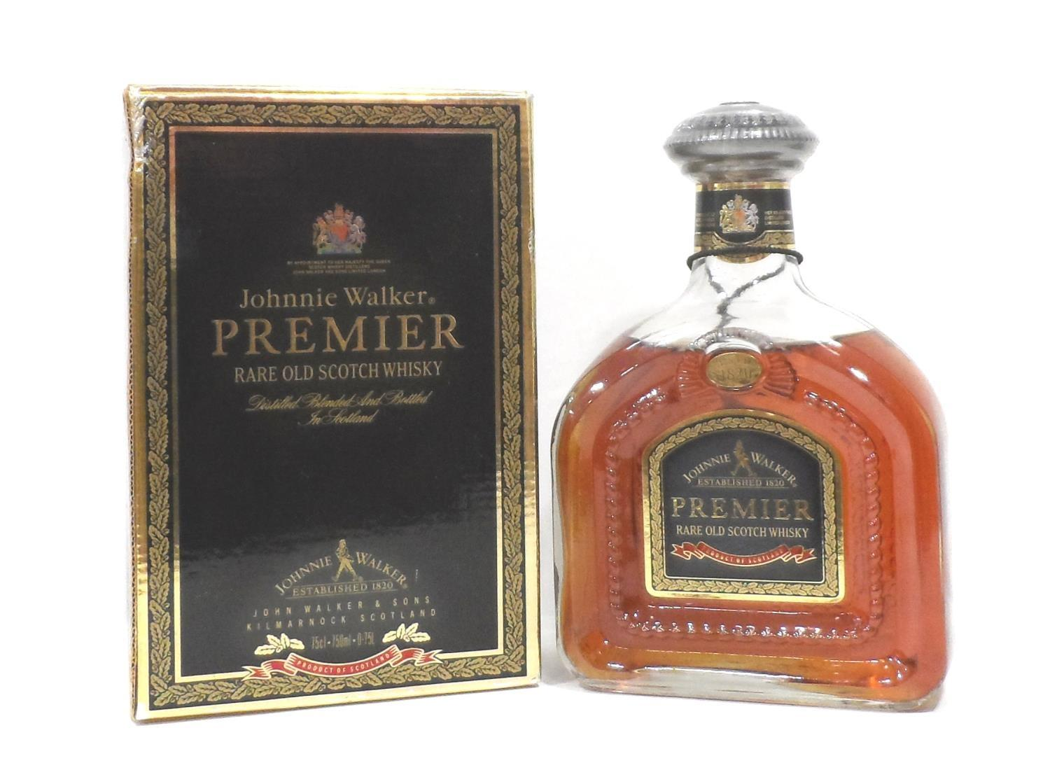 JOHNNIE WALKER PREMIER A bottle of rare and exclusive whiskies blended into this example of the